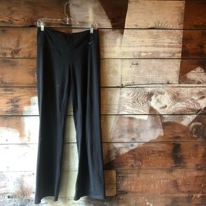 Nike Pants & Jumpsuits - Nike Medium Black Flare Leggings Dri-Fit